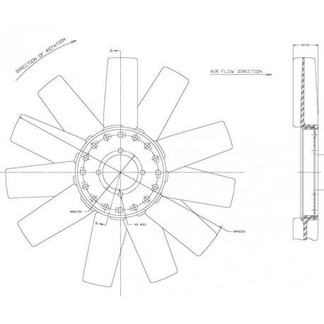 Helice Dtro. 433 / 11 Aspas / Cw