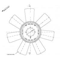 Helice Dtro. 500 / 7 Aspas / Cw // Motor Om 364a/ La - 366 La - App: Om 904/a/la - 710 / 914 / 709 / 912 / 712 / 914 - 1418 /