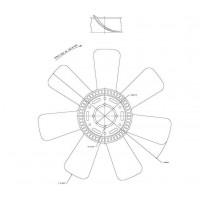 Hélice Dtro. 560/ 7 Aspas/ 82.55 / Cw // Motor: Mwm 4.10 Tca/ 4.12 Tce/6.10 Tca - Cummins 6btaa - App: 8.150 Hasta 15.180, 1