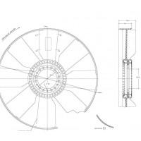 Hélice De Ventilador C/aro Dtro. 654/ 8 Aspas 127 / Cw Mb - Vw - Ford // Motor: Om 924la Euro Iii / Cummins 6ctaa - App: Of