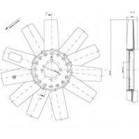 Helice Dtro. 433 / 11 Aspas / Ccw // Motor Om 612 La / Om 611la - App: Sprinter Accelo Cdi 5 Cilindros - Accelo 715 - Ltc 7to