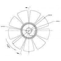 Hélice Dtro 650 / 9 Aspas (reemplazada Por 167.070000389)  / Ccw // Vwagen- M B// Motor: Om 904 / 924 / 906 / A/la - Mwm 6.