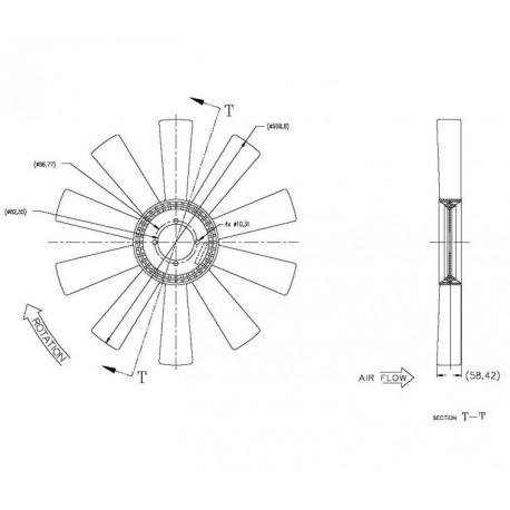 Helice Dtro. 558.8 / 10 Aspas /  Wg / Cw