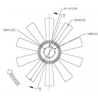 Helice Dtro. 483/ 10 Aspas /  Rs/  Cw