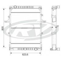 Radiador // Ford Cargo  1731/ 2425/ 2630/ 4031  Oem - 2c45.8005.eb / 2c45.8005.ea