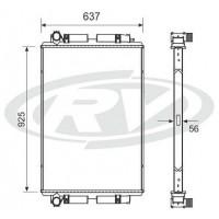 Radiador - Mercedes Benz / Oh1618 - Omnibus -