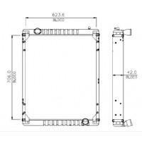 Radiador  Agrale  Mt12   Oem  - 6112001031001