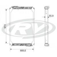 Radiador  -  Mercedes Benz / Axor 2035 /2540