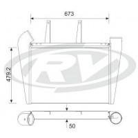 Intercooler - Mercedes Benz  / Omnibus Oh 162