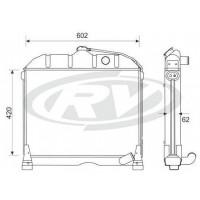 Radiador  - Mercedes Benz /  L 608d/ L 708 E