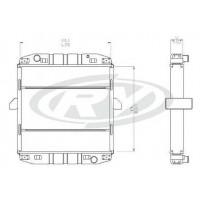 Radiador  Mercedes Benz  Lo 710 / 809 / 812/