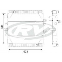 Radiador  Mercedes Benz  710 Plus  Oem  - 688