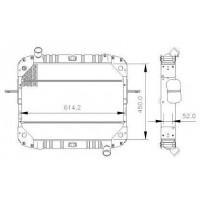 Radiador  Mercedes Benz  L712 C / 914 C Cara