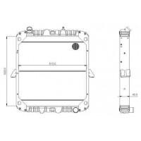 Radiador  Mercedes Benz  Ls 1723    Oem  - 69