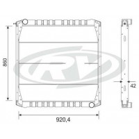 Radiador // Scania  R/ T 114 / 124 Serie 4  Oem  - 1.442.751 / 1.397.435