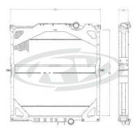 Radiador  Volvo  Fh 12 / Nh 12 Globetrotter