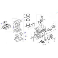 Reparacion Tapa (laminas - Juntas) // Para Compresor Bicilindrico 75 Mm Regulado Volvo