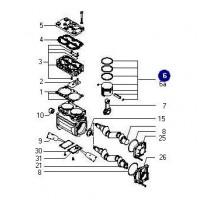 Juego De Reparacion Piston // Compresor K007254- Bicilindrico.82mmiveco