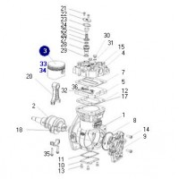 Piston Completo Con  Aros Y Pernos