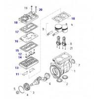 Jue. De Rep. Completo //  9125120040   (bulón, Tapa, Entretapa Y Junta)  Compresor Bicilindrico Volvo 912 512 0080  Fh/ Fm/