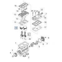 Jue. De Rep. Piston Y Biela Para Compresor 9125101030/1040