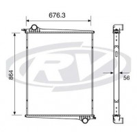 Radiador - P 94/ 124 Serie 4 (sin Lateral) - Oem 1439504 - Scania
