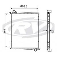 Radiador - P 94/ 124 Serie 4 (sin Lateral) - Oem 1439504 - Scania