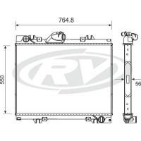 Radiador/ M.benz - Atego 1725/1728/2428- Oem A9585000403