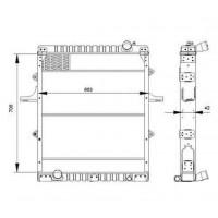 Radiador/ Volkswagen- 13-150-  Oem 2vh.121,253