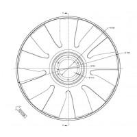 Hélice De Ventilador Dtro. 704 C/aro Aspas 9 Mb-ford//  Motor: Cummins Isc 315 - Cummins 6 Ctaa- Om 906la - App: 1832 - 1932