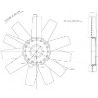 Helice Dtro. 433/ 11 Aspas / Cw Ford //  Motor: 2.8 Internac. Diesel - Maxion 2.8hs - App: Ford Ranger 2.8l - Maxion