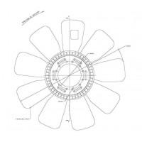 Hélice Dtro.610 / 9 Aspas / Cw / General Motors // Motor: Caterpillar 3116 - App: Gm Truck Gmt 530 - Camiones Gmt 530, Gmc 1
