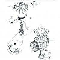 Jue. Rep. Piston Y Biela De Compresor 4111510120