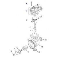 Jue. De Rep. Compresor (bulón, Tapa Y Entretapa) Compresor. 912 112 0010   Volvo Fh/ Fm/ Nh 13