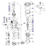 Juego De Reparación Válvula Distribuidora 884 503 468 0 Volkswagen ( 2to 607 329b)  973 009 001 0 Mercedes Benz ( 003 431 8