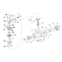 Kit Tapa Y Entretapa Para Compresor 9111550600 /0610 /0620