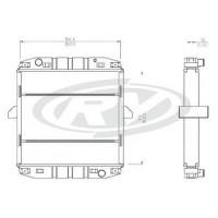 Radiador // Mercedes Benz  L 709 / Ln 809.  Oem  - 688.500.04.03