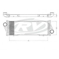 Radiador Intercooler // Mercedes Benz /  Sprinter 410/412   - Oem 901.501.07.01