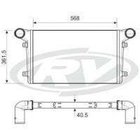 Radiador Intercooler- Agrale Volare /volkswagen 8-120 /8-140 /8-150 /13-150  // Ford Cargo -8 Ton/  Oem 6008001004001/ Xc45.6