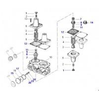 Juego De Reparación  Válvula 4 Circuitos Ford 14000 (xc352k119aa)  Y Volkswagen (2ta607359)