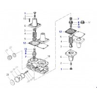 Juego De Reparación Válvula Protectora 4 Circuitos // Scania 112 / 113 (934 702 381 0)