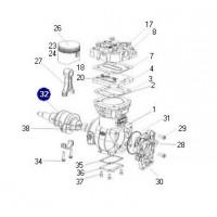 Cigüeñal // Compresor K001389/k002974/k0011246/k01837101