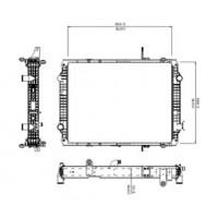 Radiador // Volkswagen Constellation 17.320e/ 19.320e/ 25.320e / 25.420e - Oem: 2t2121253t
