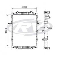 Radiador // Volkswagen Constellation 19.370e/25.370e/19.360e / 25.370e /31.370e - Oem: 2v2121253a / 2v2121251a