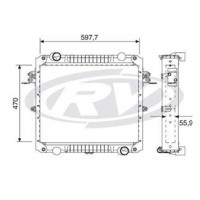 Radiador // Volkswagen 8.150 / 9.150 - Oem: 2r0121253q