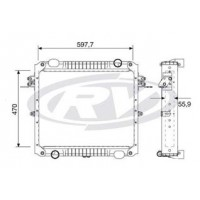 Radiador // Volkswagen 5.150 / 8.160 / 9.160 - Oem: 2p0121253b