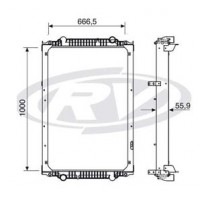Radiador // Volkswagen 15.190 - Oem: 2z0121253