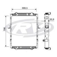 Radiador // Volkswagen 16.170 / 16.180 / 16.210 - Oem: 2w0121253r