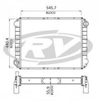 Radiador // Volkswagen 13.180e / 15.180e - Oem: 2s2121253c