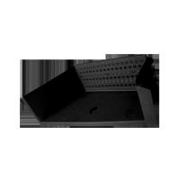 Estribo Con Agujero Lado Derecho (negro) // Mercedes Benz 709-710- 712- 1618- 1935- Ls 1630- L 2318- L 2418- Lk 1721- Lk 1621